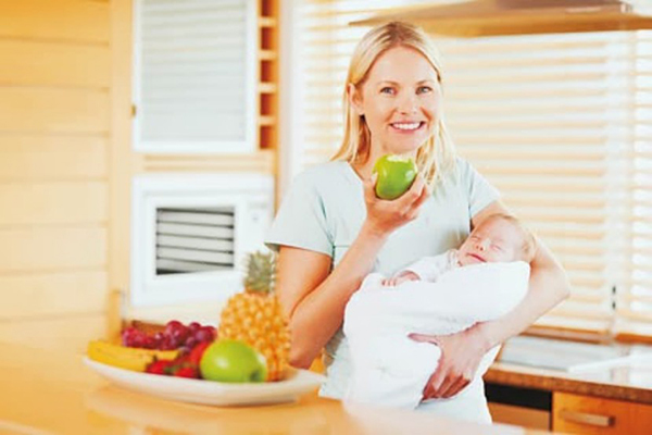 Chế độ ăn uống giảm cân sau sinh